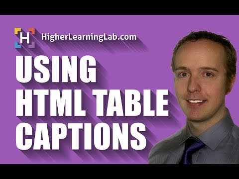 HTML Table Caption Defined & Explained