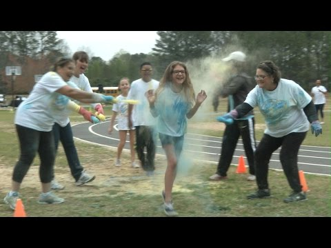 Fun Run at Varner Elementary School