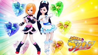 リカちゃん ふたりはプリキュア♥キュアブラックとキュアホワイトの衣装を粘土で手作り工作✨お店屋さん🌼おもちゃ 人形 アニメ