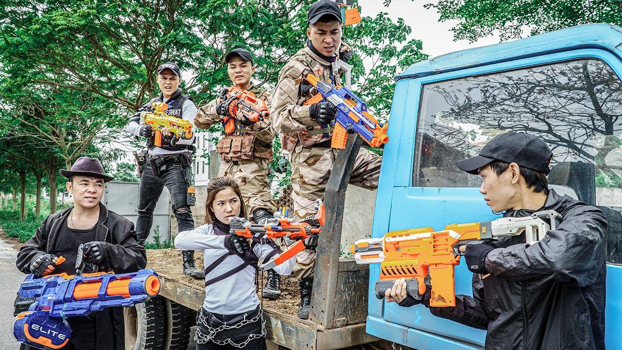 Nerf Guns War : S.W.A.T Men Of SEAL TEAM  Battle Furious  Boss XX Dangerous Criminal Group