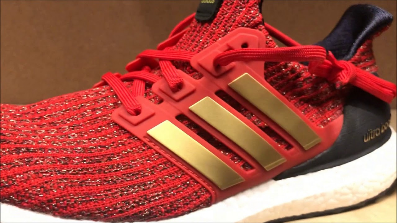 """5c94dc39fd4e7 FIRST LOOK Game of Thrones x adidas Ultra Boost """"Lannister - YouTube"""