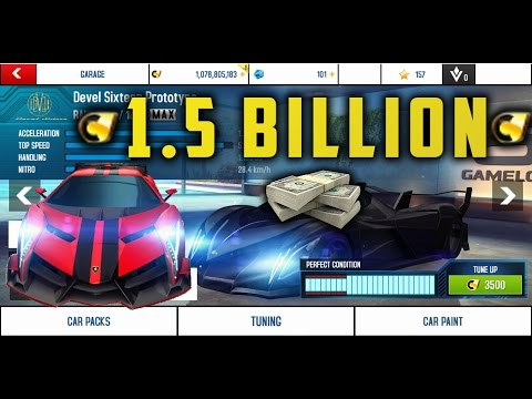 Omg 1.5 billion dollars on Cars Asphalt 8 Airborne 2017 Spending spree!
