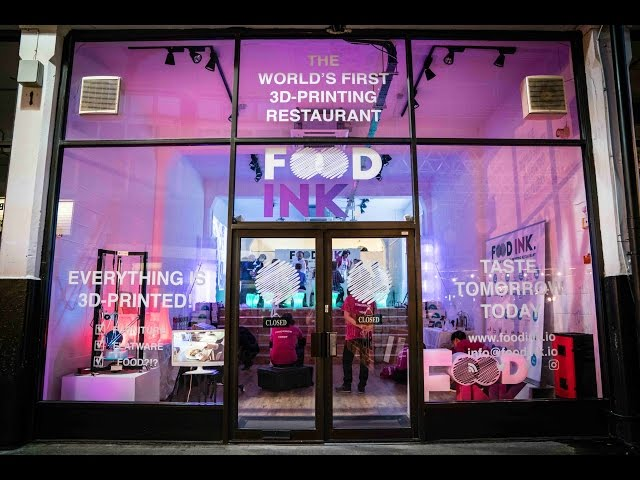 London Launch of Food Ink - The Worlds First 3D-Printing Restaurant