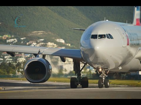 American Airlines / Airbus A330-200 / Take off from Sint Maarten
