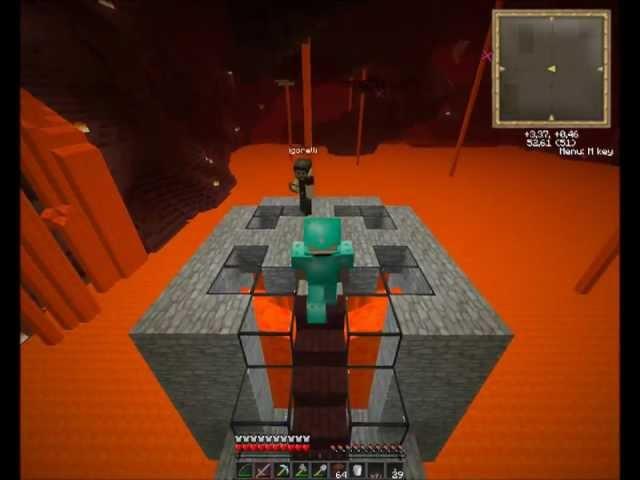 """Смотреть прохождение игры Coop let's play minecraft. ЧАСТЬ 7. """"Ад, загадка карты и анонс."""""""