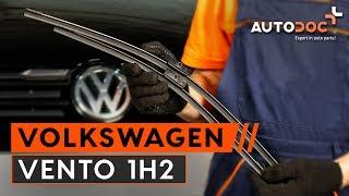Montaje Escobillas de Limpiaparabrisas delanteras y traseras VW VENTO (1H2): vídeo gratis