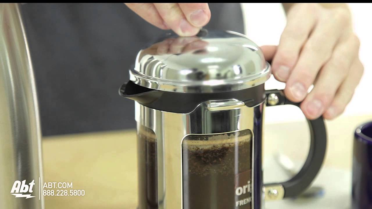 how to use a bodum chambord 4 cup french press coffee maker 1117116 youtube. Black Bedroom Furniture Sets. Home Design Ideas