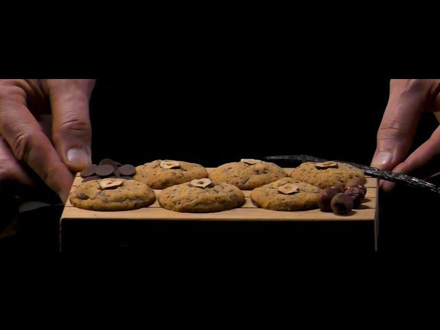 Biscotti al cioccolato fondente Noalya e nocciole