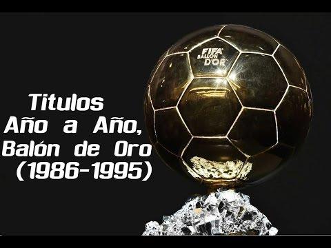 Golden Ball 19861995  FutbolRoy