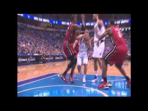 HD - JJ Barea Gorgeous Left-handed Layup - Heat Vs. Mavs Game Four