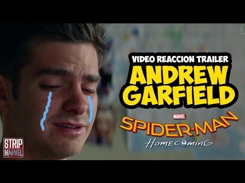 Reacción de ANDREW GARFIELD con el tráiler de SPIDER-MAN HOMECOMING   Strip Marvel