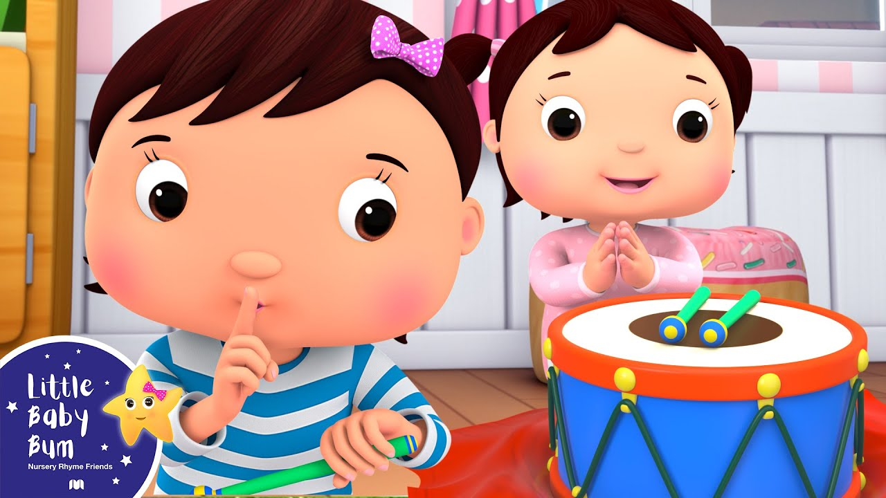 Baby Plays with the Drum! | Little Baby Bum - Brand New Nursery Rhymes for Kids