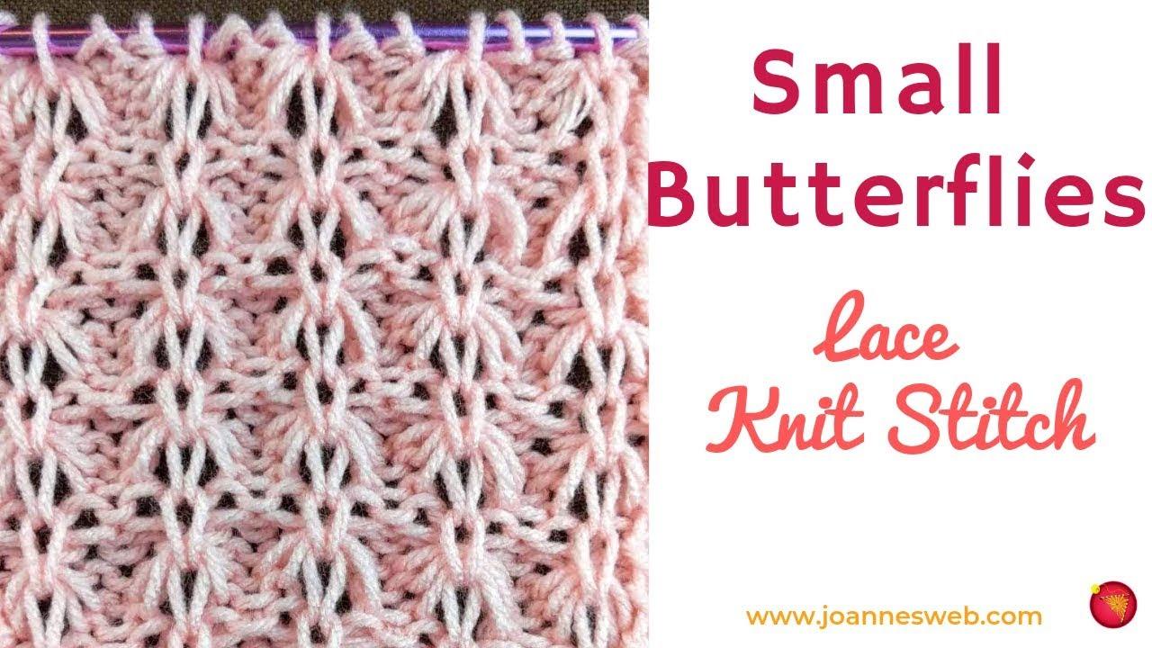 Small Butterflies Lace Knitting Stitch Pattern |