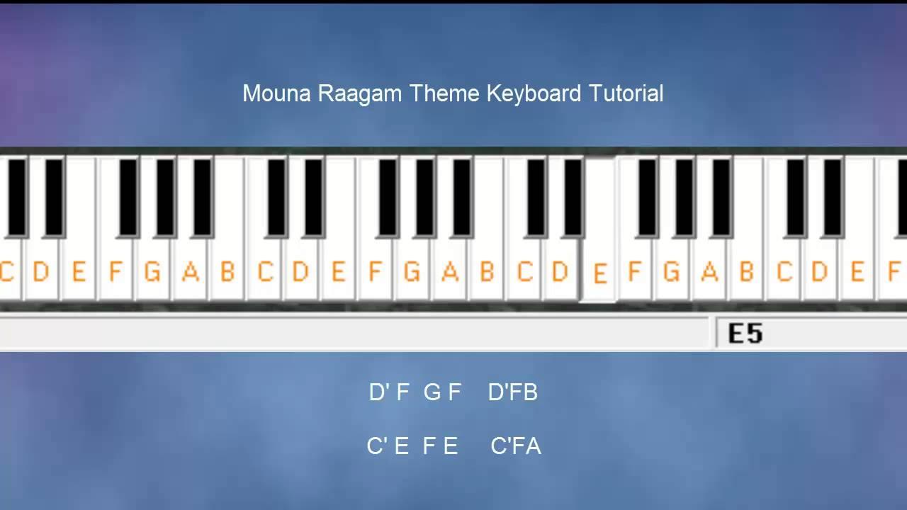 Mouna Ragam Theme Keyboard notes & Tutorial! - YouTube