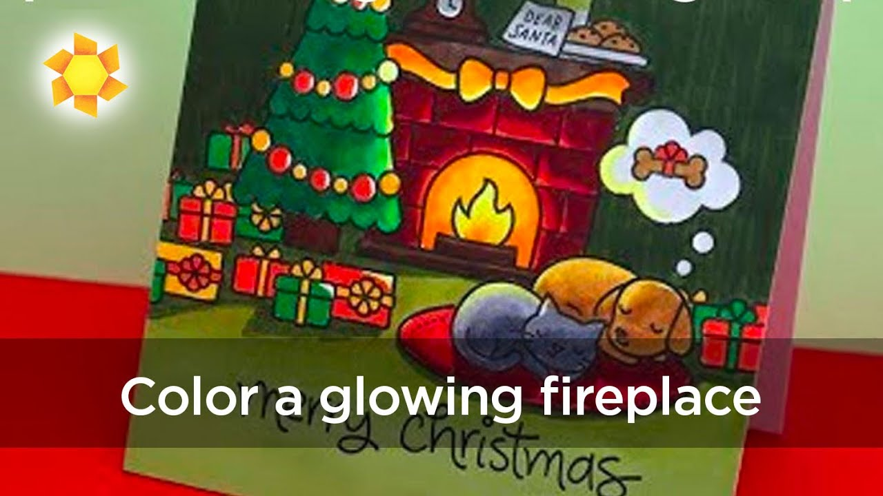 Warm Christmas Coloring: Lawn Fawn Christmas Dreams - YouTube