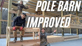 Pole Barn Improvements with @Justin Rhodes and @Sow the Land //  Homestead Helper #6 | Jan 15 2021