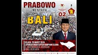 Prabowo Menyapa Semeton Bali
