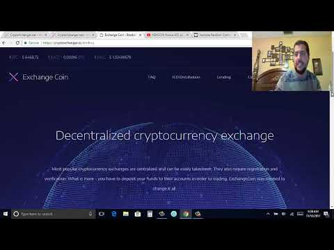 EXCHANGE COIN ICO Exchange descentralizado con plataforma de lending