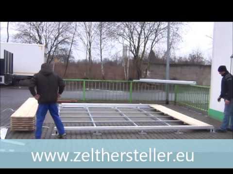 Aufbau boden pagode 4m x 4m femax zelte pagode aufbau for Boden deutschland