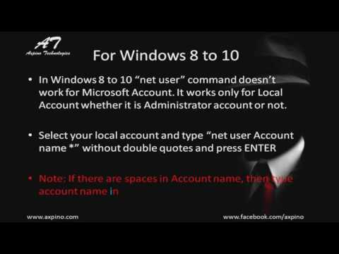 How to Hack Windows Password Using Command Prompt Windows 8 and 10
