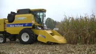 Koszenie kukurydzy kombajnem New Holland TC5070 - Dni Kukurydzy 2014 / WarpolAgroTV