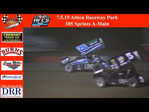 7.5.19 Attica Raceway Park 305 Sprints A-Main