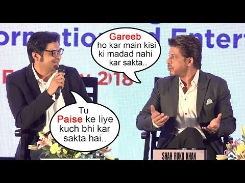 Shahrukh Khan SHUTS UP Arnab Goswami In Front Of Media At Magnetic Maharashtra Summit 2018