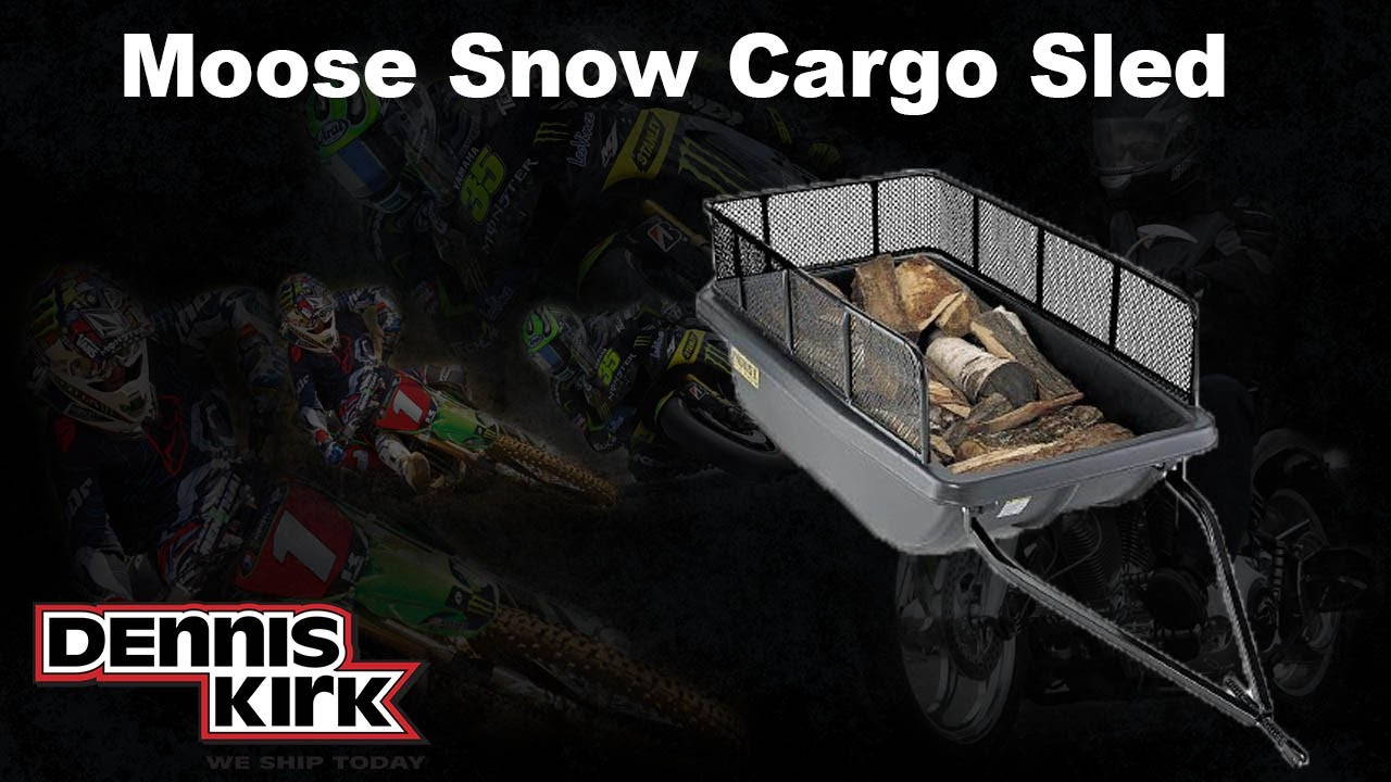 Cargo Snow Sled From Moose Snowmobile Gear At Dennis Kirk Youtube