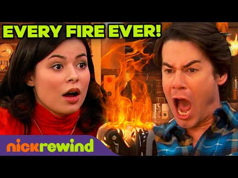 Every Time Spencer Started a Fire Ever on iCarly ��