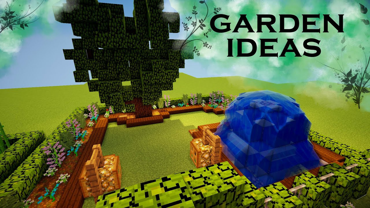 Garden Ideas Minecraft minecraft | garden ideas - youtube