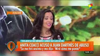 Anita Coacci también denunció a Darthés por acoso: