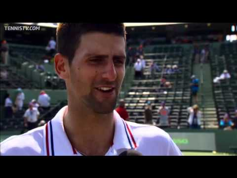 Novak Djokovic Interviewed After Winning Sony Ericsson Open