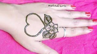 ll beautiful easy heart shape mehndi design #easy mehndi design ll