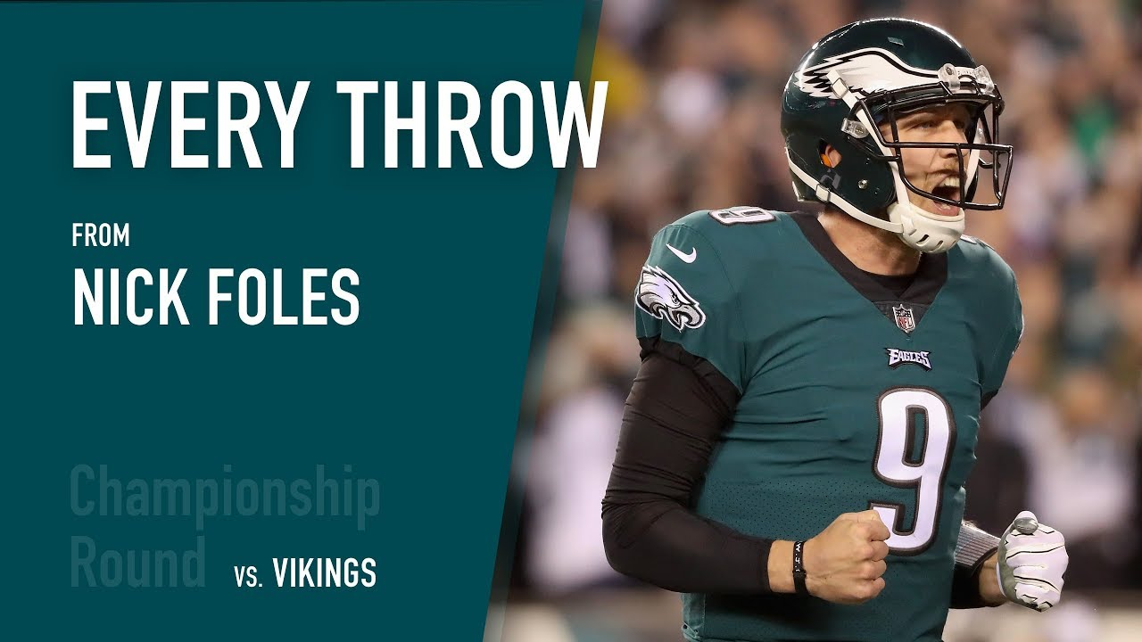 low cost 66120 ee949 Every Throw - Nick Foles vs. Minnesota Vikings (NFC Conference  Championship, 2018)