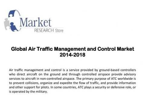 Global Air Traffic Management and Control Market  2014-2018