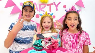 Nastya gets a surprise from her best friends
