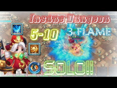Commodora SOLO 3Flame Insane Dungeon 5-10 - Castle Clash