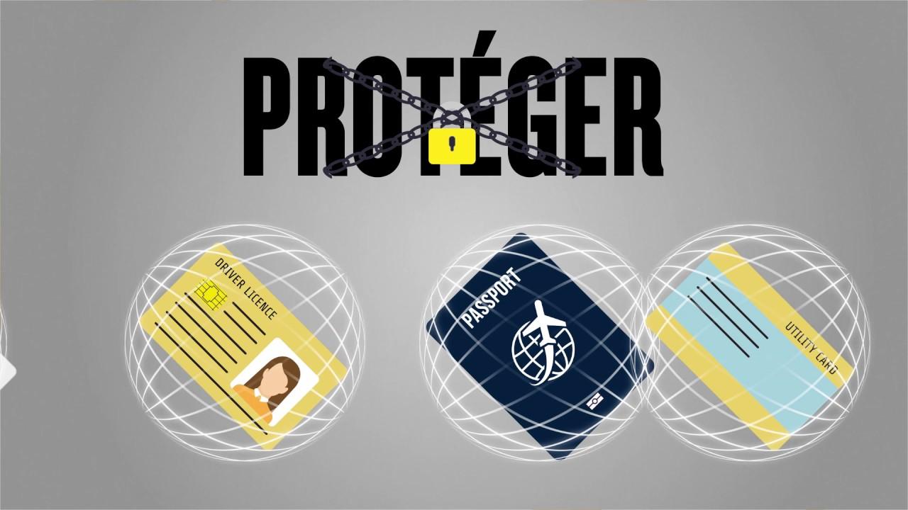 Protéger Votre Identité Et Votre Carte De Crédit Avec RFID Guard - Porte cartes sécurisé protection rfid nfc
