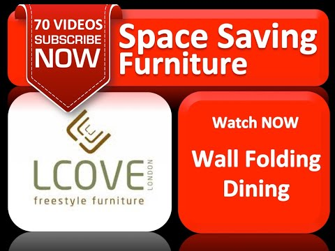 LCOVE Wall Folding Dining Table Unit YouTube
