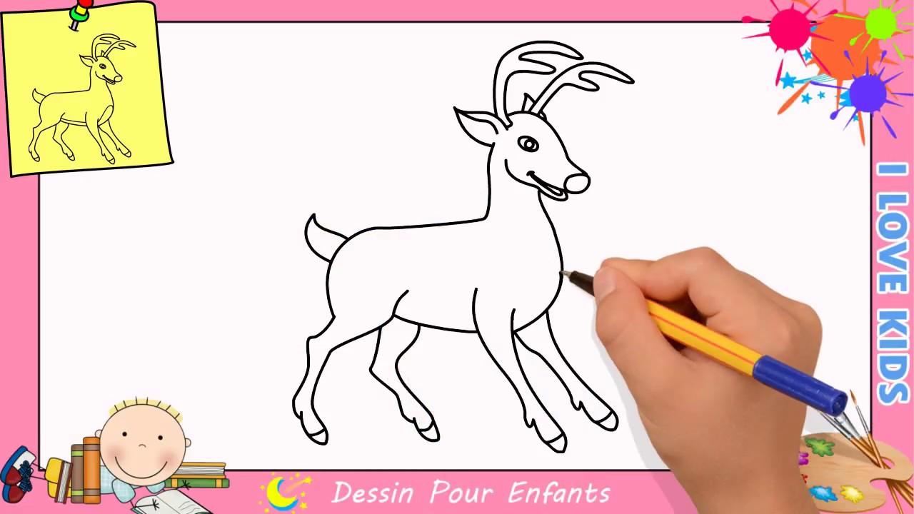 Comment dessiner un renne de no l facilement etape par etape pour enfants 3 youtube - Dessiner un renne ...
