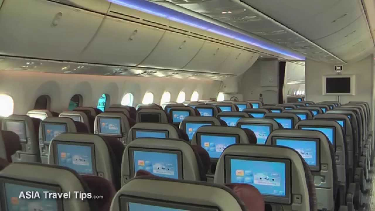 qatar airways boeing 787 8 dreamliner tour of economy and business class hd youtube