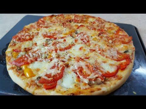 Пицца рецепт в домашних условиях в духовке с грибами и сыром в духовке