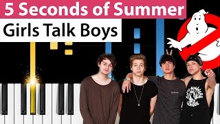 5 Seconds of Summer - Girls Talk Boys - Piano Tutorial (Ghostbusters Soundtrack)