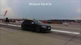 New Audi RS3 vs Mitsubishi Lancer Evo 4 -  Drag Race Arad 10.09.2016