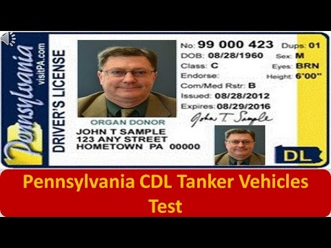 Pennsylvania CDL Tanker Vehicles Test