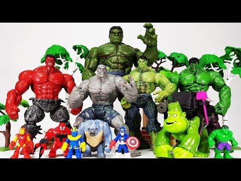 Thanos & Bad Hulk is Coming~! Go Avengers, Hulk, Spider Man, Iron Man, Captain America
