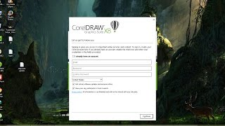 how to remove or disable or hide login screen in corelDraw X8