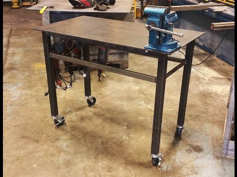 Building a Welding Table with Vise & Wheels - Basic Design