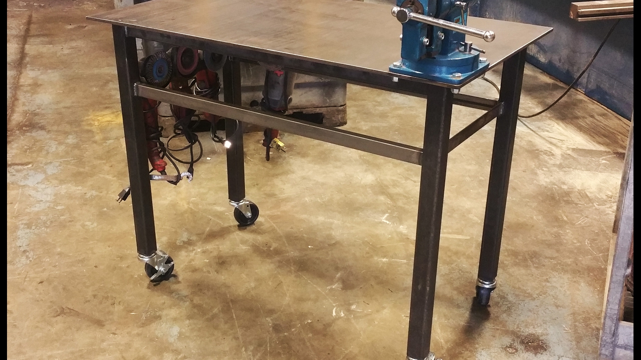 Building A Welding Table With Vise Wheels Basic Design Youtube