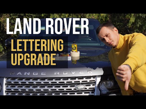 How to replace the Lettering on Land Rover Range Rover Hood/Bonnet